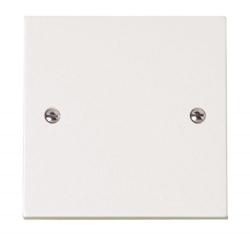 Bulk Hardware BH02676 Single Blank Plate White Plastic - Pack of 2