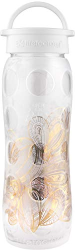 Lifefactory 53000422Oz Glas Flasche mit Fused 24Karat Gold, Onyx Bio