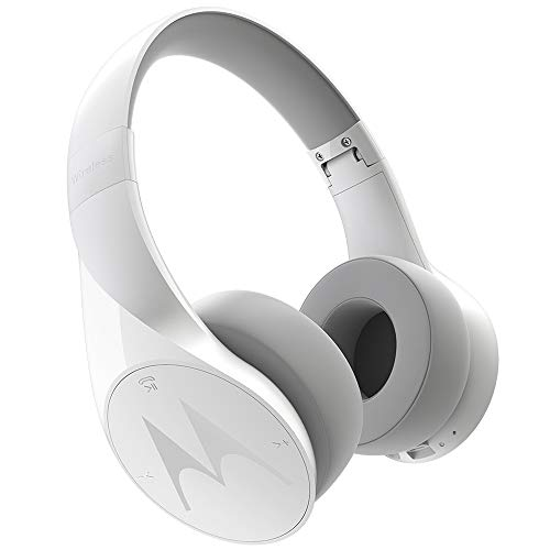 Motorola Pulse Escape Wireless Bluetooth Over The Ear Headphone with Mic (White)