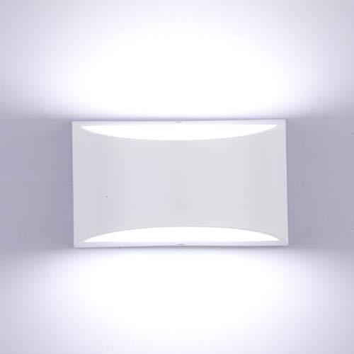 Glighone Applique Murale Intérieur LED Réglable Éclairage Lampe Murales 10W Moderne Luminaire Mural Up Down Appliques Murales en Aluminium Décoratif Lumière pour Chambre Salon Couloir, Blanc Froid