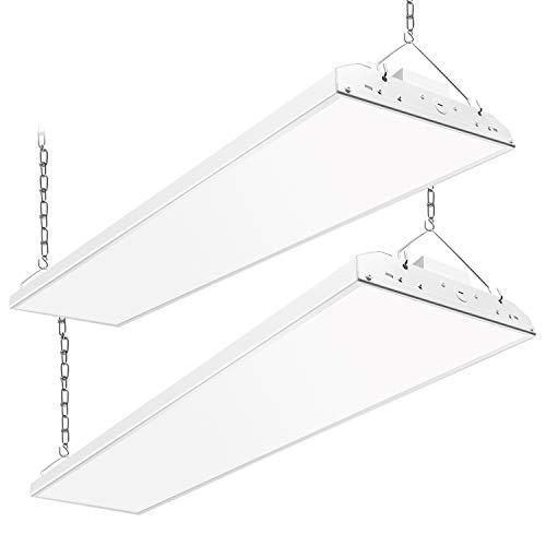 CINOTON 4FT Linear LED High Bay Light, LED Shop Light Fixture 223W 28990lm 1-10V dimmable 5000K [750W Fluorescent Equiv.] Motion Sensor Optional, Indoor Commercial Warehouse Area Light (223W 2 Pack)