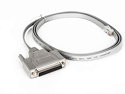 RJ45 To DB25F 6 Cross Cable Comp with all Cyclades Serial Prdts