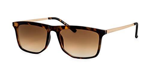 Filtral Sonnenbrille Damen/Eckige Flat-Top Sonnenbrille mit Verlaufsgläsern F3020300