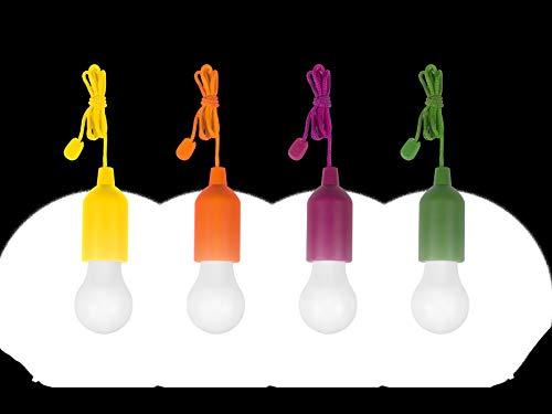 LED-Dekoleuchte 4+4 Gratis Set LED 1W Neutral- bianco HandyLux Colors M14159 Gelb, Orange, Magenta, verde