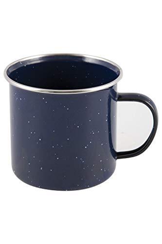 Mountain Warehouse Mug en émail - 515ml - Tasse de Voyage en émail, Facile à Nettoyer, Tasse à thé en Acier Inoxydable Durable - pour Pique-niques, Voyager, Camper Bleu Taille Unique