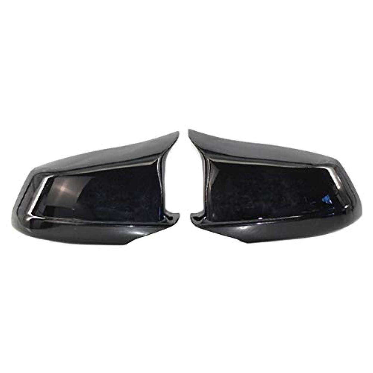 剣アッティカスバドミントン交換用カバーミラーカバーミラーは、フィット感のためのBMW 5シリーズF10 / F11 / F18プリLCI 11-13ミラーキャップの交換サイドミラーはリヤドアウィングリアビューMキャップカバー ドアミラーカバー (Color : Black)