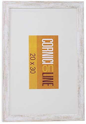 Cornice in Legno 220 Bianco da Parete 30x40