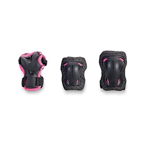 Rollerblade 06310400_110 Mädchen Protektoren, Schwarz Pink, XXXS