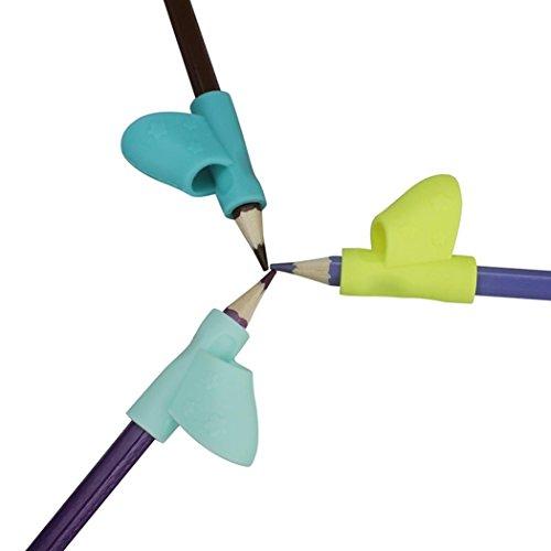 Diadia® - Lápiz de agarre para niños, herramienta de corrección de postura, lápices de silicona, agarre de entrenamiento (3 unidades/set)