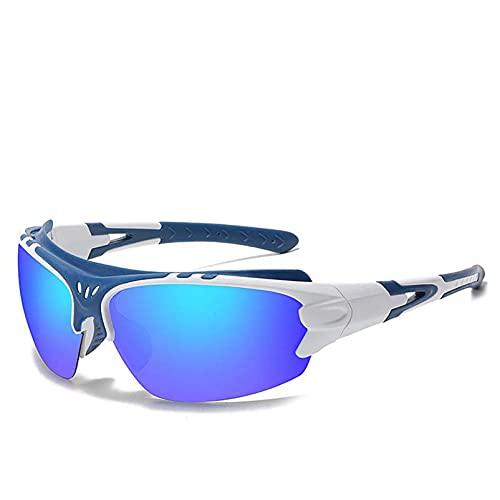 AMFG Gafas de sol polarizadas para hombres y mujeres, gafas de sol deportivas, espejos a prueba de viento, gafas, al aire libre (Color : C)