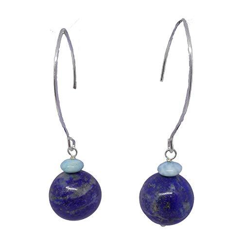 Lima BOLA5106 Long Earrings Larimar and Lapis Lazuli