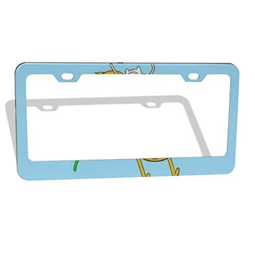 Adventure Time Finn Jak License Plate Frame License Plate for Car,Impressive Novelty License Plates for Car Minivan, 16x31.3cm