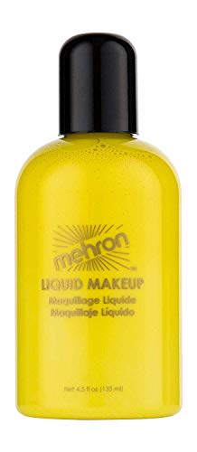 Mehron Makeup Liquid Face and Body Paint (4.5 oz) (Yellow)