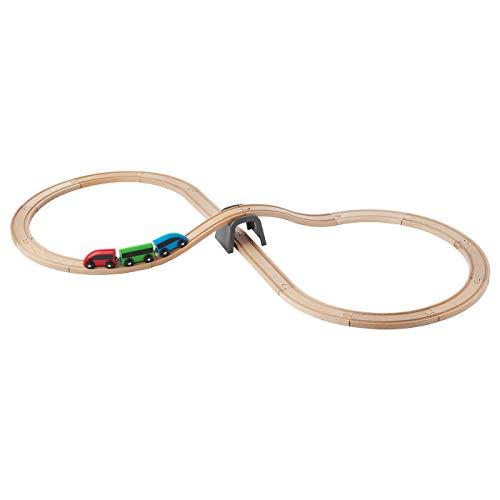 Ikea 003.200.54 Ferrocarril Lilabo, salida básica. 20 piezas, multicolor