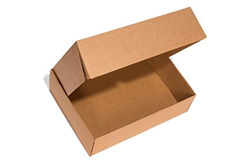 Pack 25 Cajas Carton Envios Automontables, Paquetes Regalo, Kraft, Packaging de 21x30x10cm.