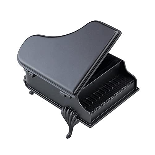 Caja de Música Grand Piano Music Box caja de música de metal 18 tono Mini Música de Wind-up caja de joyería, Cumpleaños de Navidad Regalo de San Valentín para niñas Caja Decorativa ( Color : Black )