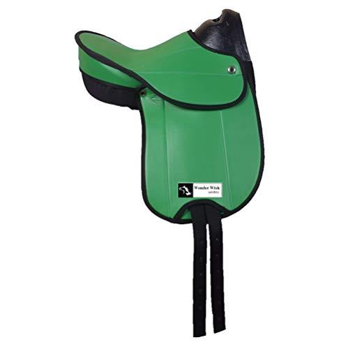 Wonder Wish - Sillín sintético para Pony, tamaño: Asiento Disponible de 12 a 18 Pulgadas