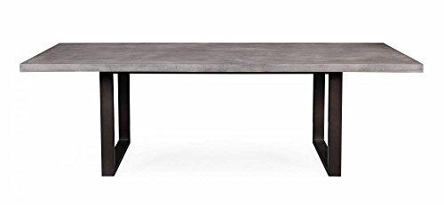 Tov Furniture Edna Concrete Table, Washed Grey