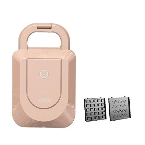 Wsjtt toastie maker Máquina para hacer gofres, tostadora para sándwiches, 3 en 1, platos extraíbles de acero inoxidable, sartén eléctrica multifunción para hornear, sartén, bistec, panini, desayuno, c
