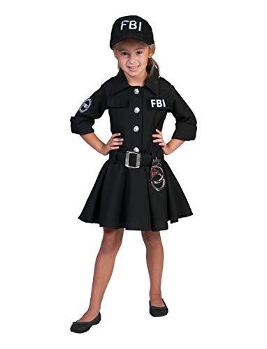 FBI Agent Kostüm Polizistin für Mädchen Gr. 128