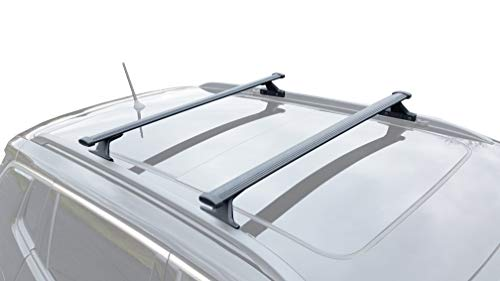 BrightLines Roof Rack Crossbars Compatible with 2018 2019 2020 2021 Jeep Compass