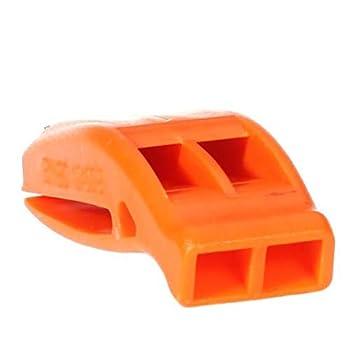Ndier Sifflet d'urgence Orange Survie sécurité Whistle - détresse de l'appareil de signalisation - Parfait pour Bushcraft, Camping, Randonnée, EDC, SOS, Orange Articles Produits Sport