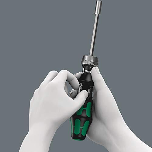 Wera 5073661002 Kraftform Kompakt 27 RA Slotted Ratcheting Screwdriver, 1/4