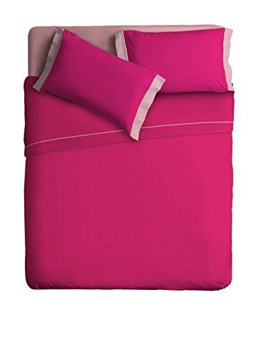 Ipersan Juego Sábanas 2 Colores Cama de 1 Plaza Color Fucsia/Rosa cm. 160x290