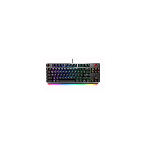ASUS RGB Mechanical Gaming Keyboard - ROG Strix Scope TKL | Cherry MX Red Switches | 2X Wider Ctrl Key for FPS Precision | Gaming Keyboard for PC