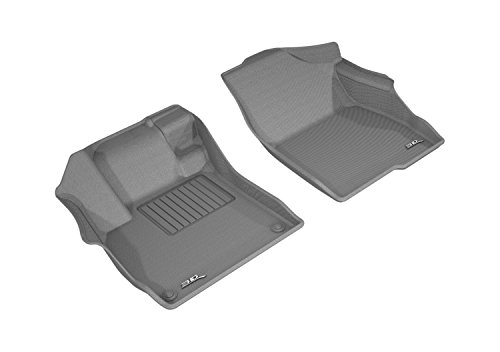 3D MAXpider All-Weather Floor Mats for Honda Accord 2018-2020 Custom Fit Car Floor Liners, Kagu Series (1st Row, Gray)
