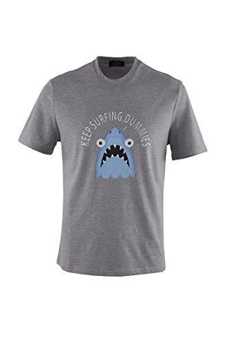 0140Voray Ga Camiseta Hombre algodón Estampado Dibujo Shark