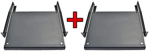 Pack SEAL limited product 2 PCS X 2U Rack Keyboard Mount Sliding Mail order cheap Adjustable Pull-Out