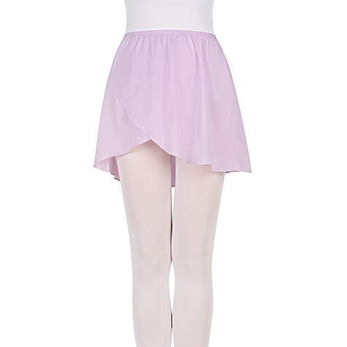 FNYIVDNY Ballet wrap Skirt Chiffon Dance Skirt with Elastic Waistband for Girls&Women Purple