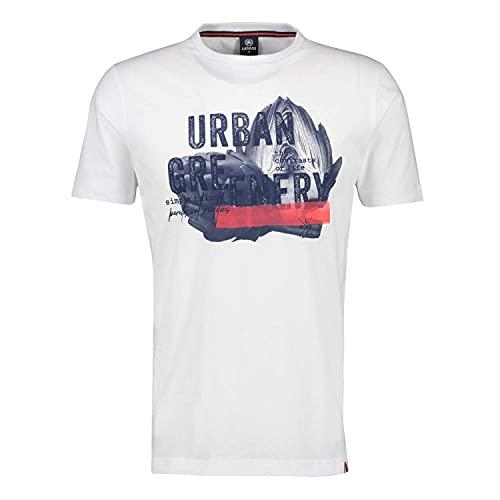 LERROS Herren T-Shirt Serafino 1/2 2133038 weiß (XL)