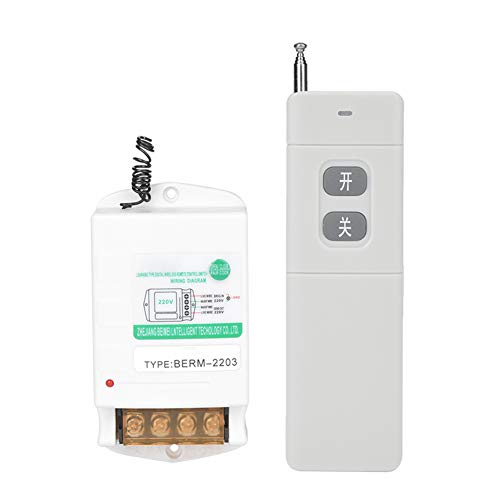 Jeanoko Interruptor de control remoto del sensor Digital 220V para el hogar y la industria