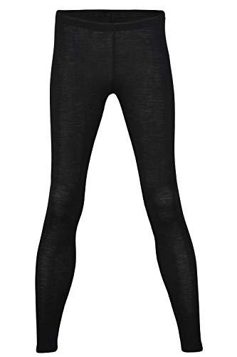 Thermal Underwear Leggings for Women - Merino Wool Base Layer Long Johns Pajama (EU 42-44 | Medium, Black)