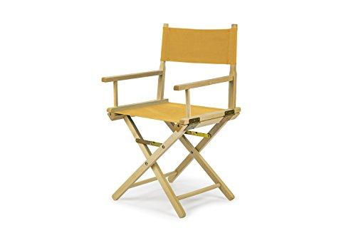bas REGIESTUHL Stuhl aus Holz Campingstuhl (GELB)