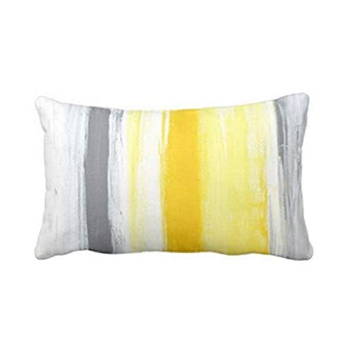 SHOBDW Startseite Auto Bett Sofa Dekorative Kissenbezüge Einfachheit Stilvoll Linien/Brief Drucken Rechteckig Kissenbezug 30 X 50cm