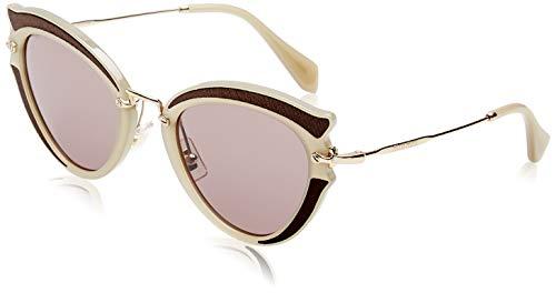 Miu Miu 0MU05SS VHY6X1 52 Gafas de sol, Marrón (Brown/Brown Purple), Mujer