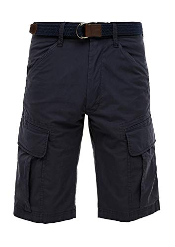 s.Oliver Herren Relaxed Fit: Cargo-Bermuda dark blue 30
