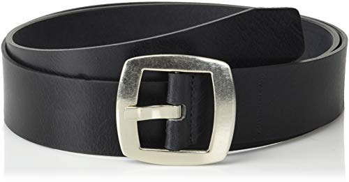 Calvin Klein Women's Vintage Leather Belt, Black, X-Large