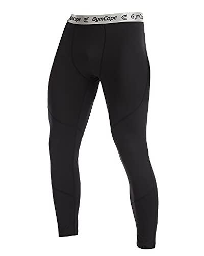 GymCope Kompressionshose Herren, Sport Leggings Lange Laufhosen Atmungsaktiv, Quick Dry Kompression Hose für Fitness Joggen
