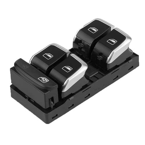 Xiyuncao Botón de Interruptor de Ventana eléctrica de Coche, para Audi A4 S4 A5 Q5 S5 B8 2008-2014 Interruptor de Control de Ventana eléctrica 8KD959851A