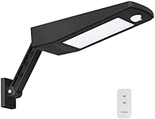 Outdoor Solar LED Wall Light IP65 Waterproof Area Security Night Lighting Wireless Dusk to Dawn Motion Sensor Lamp Remote Controlled for Garden, Fence, Patio, Yard, Gate,Parking Lot 48LED 900LM 6000K [並行輸入品]