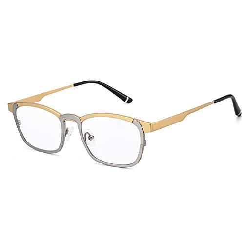 HQMGLASSES Anti-Azul Claro Gafas de Equipo de Titanio Puro Inteligente, Multi-Enfoque de la Lente de Resina de Alta definición progresiva Gafas de Lectura dioptrías +1,0-+3,0,Gris,+2.5