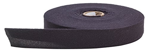 PEARL 2' Fold in Half Quilt Binding, Brushed, 25 yd, Black