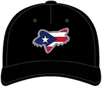 Puerto Rico Fox Head Flex Fit Hat Small Medium Black product image
