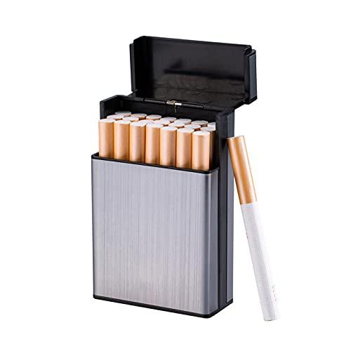 VIY Caja de Cigarrillos de Aluminio Ligero Portatil Pitilleras para Hombre y Mujer, para 20 85mm Cigarrillos
