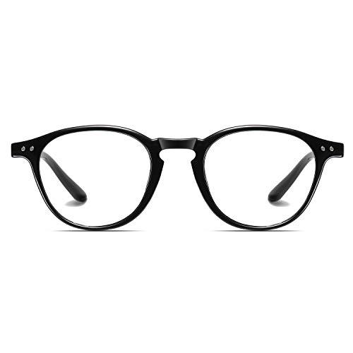Blaues Licht Blockieren Gläser, Mloz Blaulicht Filter Computer-Brille, Anti Eyestrain Vintage Square Frame Brillen für Frauen Männer (Quadrat Schwarz2)