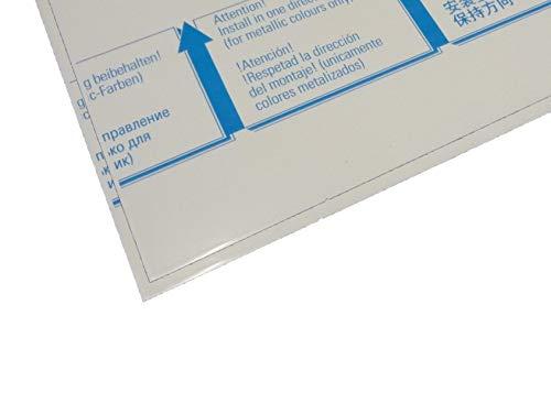 Alu-Verbundplatte 1000 x 500 x 3 mm Aluminiumverbundplatte Zuschnitt